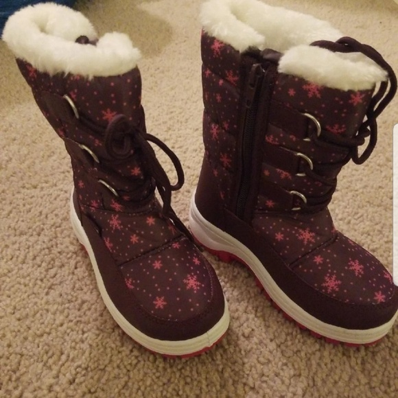 Apakowa Other - Apakowa Girls Insulated Fur Winter Boots Size 10.5
